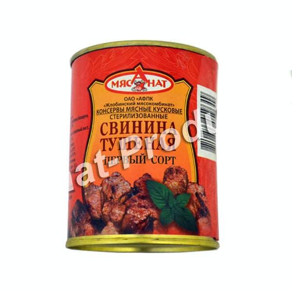 Свинина тушеная Жлобинский МК 1 сорт ГОСТ