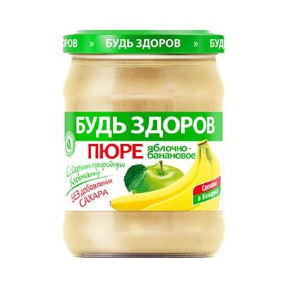 Пюре яблочно-банановое АВС