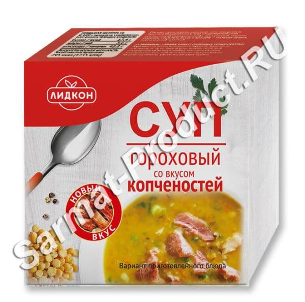 Суп гороховый со вкусом копченостей (брикет)