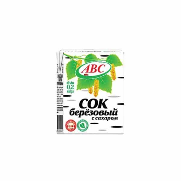 Сок Березовый с сахаром тетра-пак АВС