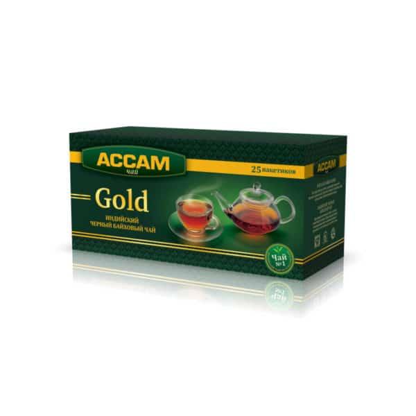 """Чай """"Ассам"""" Gold пакет 25х1,8г"""