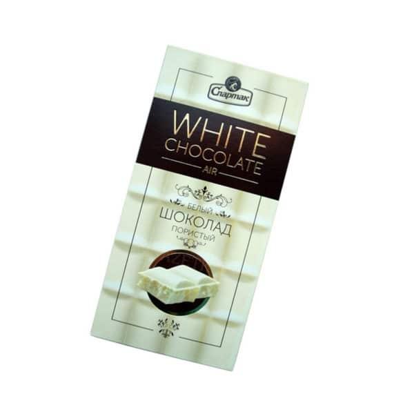 "Шоколад ""СПАРТАК"" ПОРИСТЫЙ Белый"