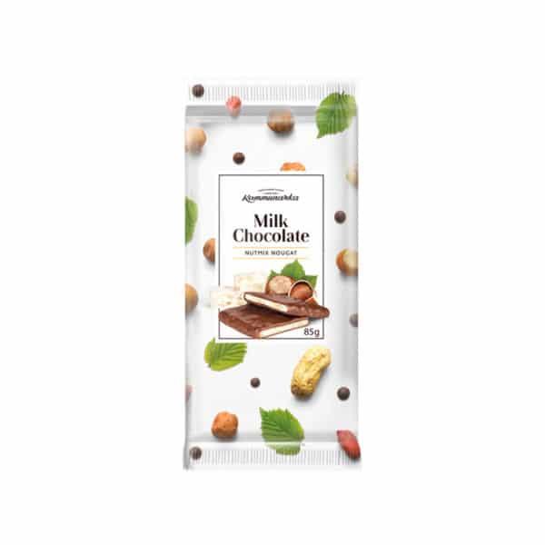 Шоколад молочный Milk Chokolate с ореховой нугой Коммунарка