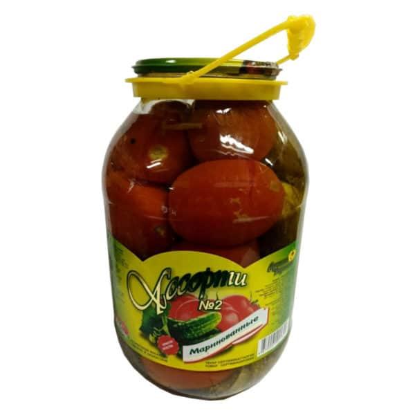 """Ассорти №2 (томаты,огурцы) маринов. """"Лучшие рецепты"""""""
