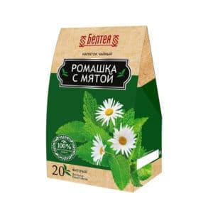 """Напиток чайный БЕЛТЕЯ """"Фиточай Мята"""" 20х1г"""