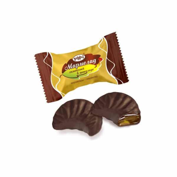Мармелад Лимонный в шоколаде (Рахат)