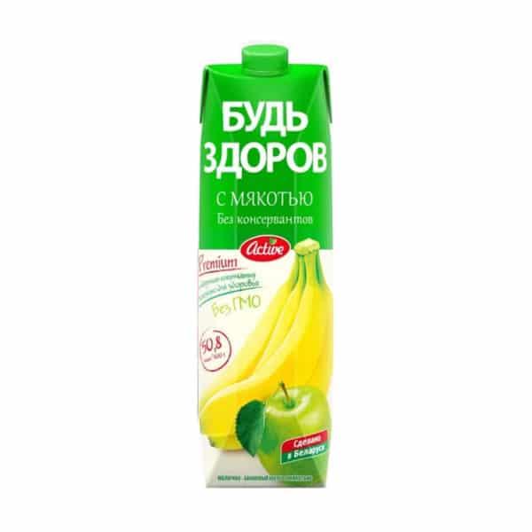 """Нектар """"Будь Здоров"""" Яблочно-Банановый АВС"""