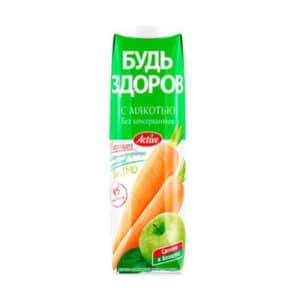 """Нектар """"Будь Здоров"""" Яблочно-Морковный АВС"""