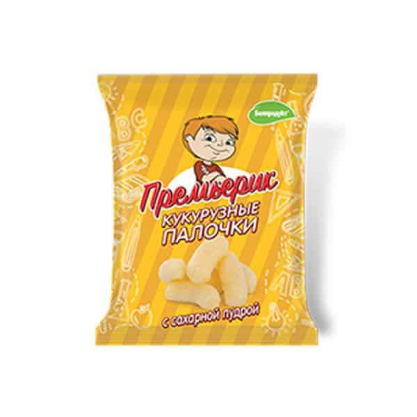 """Палочки кукурузные """"Премьер"""" с сахарной пудрой"""