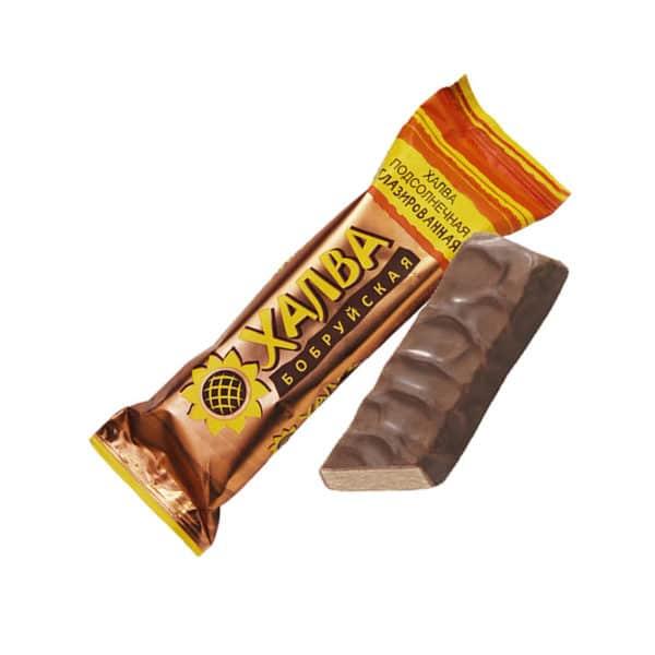 "Халва ""Подсолнечная в шоколаде"" батончик"