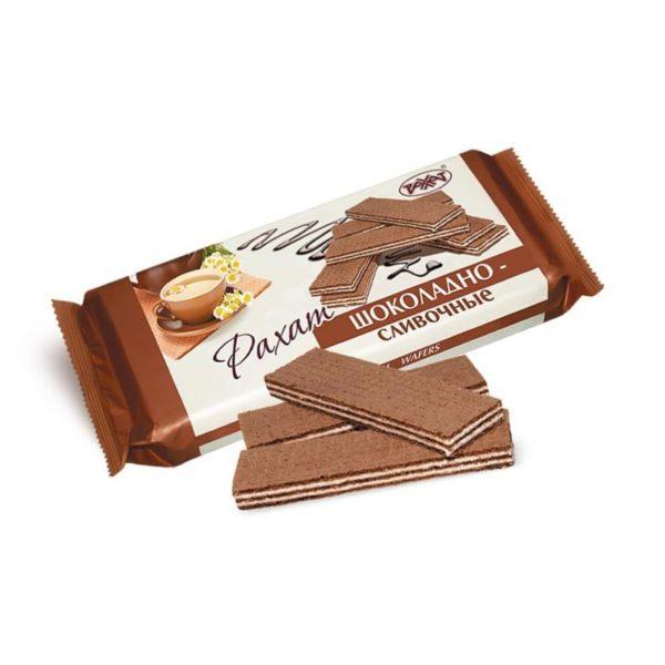 """Вафли """"Рахат"""" шоколадно-сливочные"""