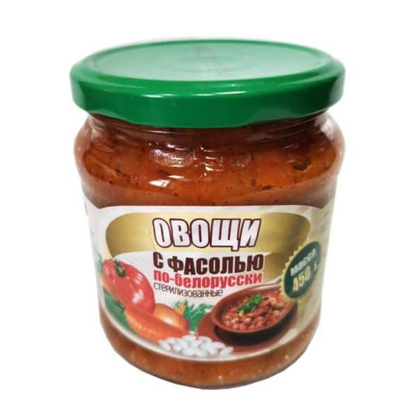 Овощи с фасолью По-Белорусски