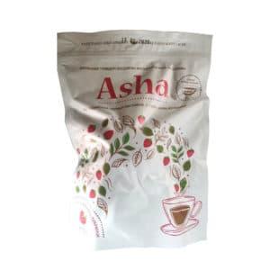 "Чай ""Asha"" черн. лист с кусочками клубники Zip-пакет 200 г (с пиалой)"