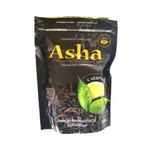 "Чай ""Asha"" черн. лист с цедрой лимона Zip-пакет 200 г (с пиалой)"