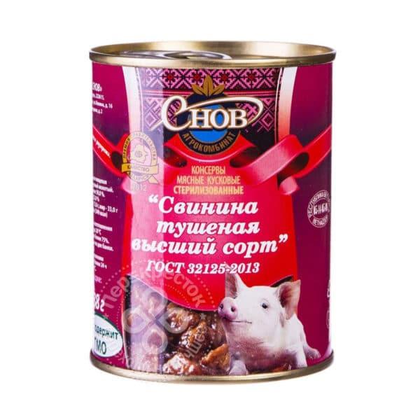 "Свинина тушенная в/с ""Снов"""